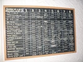 Sharon Jones and The Dap Kings' eight tracks per song.