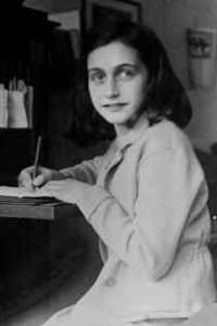Anne Frank, at home at the Merwedeplein in Amsterdam in 1941