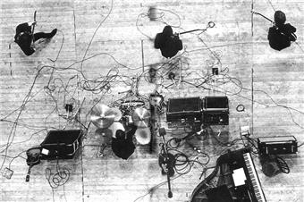 Unidentified and undated overhead shot of the Beatles
