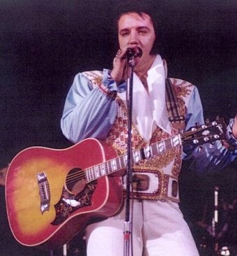 Elvis with in concert Gibson Dove Custom Seattle, WA - April 26, 1976