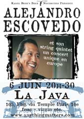 Alejandro Escovedo et son string quintet