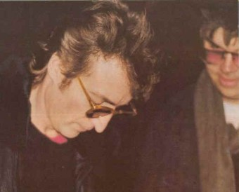 John Lennon and Mark David Chapman - December 8, 1980