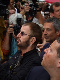 Ringo Starr in Chicago, July 7, 2008 - Photo by Phil Solomonson