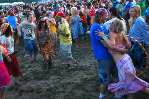 Hippies at Rothbury 2009