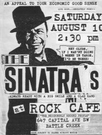 Flyer for the first Sinatras gig